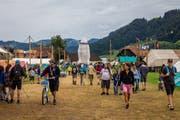 Augenschein auf 140'000 Quadratmetern: Zahlreiche Angehörige haben die Pfadikinder im Kantonslager besucht. (Bild: PD/Dimitri Gwinner, Escholzmatt 21. Juli 2018)