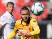 Gab gegen Lugano beim 0:1 nach weniger als vier Minuten eine denkbar schlechte Figur ab: Sions neuer Goalie Anthony Maisonnial (Bild: KEYSTONE/LAURENT GILLIERON)