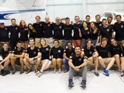 Das Team der ETH Lausanne, EPFLoop, hat am Hyperloop-Wettbewerb von Elon Musk den dritten Platz erreicht. Das Team der ETH Zürich hat sich dieses Jahr nicht für den Final qualifiziert. (Bild: EPFL)