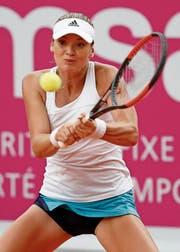Die Tschechin Tereza Martincova spielte im Vorjahr am WTA-Turnier von Gstaad, ab nächster Woche steht sie für Sursee im Einsatz. (Bild: Peter Klaunzer/Keystone (Gstaad, 21. Juli 2017))