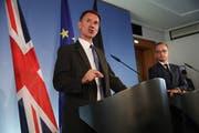 Der britische Aussenminister Jeremy Hunt (links) heute während seines Treffens mit dem deutschen Amtskollegen Heiko Maas in Berlin. (Bild: Sean Gallup/Getty)