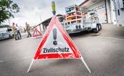 Ausrüstung des «Kantonalen Katastrophen Einsatzelements» beim Ausbildungszentrum Galgenholz in Frauenfeld. (Bild: Andrea Stalder)