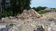 Früher war es üblich, Abfälle in Deponien – wie hier im Unterbüel Mörschwil – zu sammeln. Diese müssen heute aufwendig saniert werden. (Bild: Amt für Umwelt Kanton St.Gallen)
