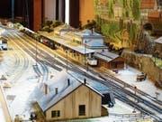 Auch eine detailgetreue Nachbildung des Bahnhofs von Göschenen, wie er sich im Jahr 1882 präsentiert hat, kann anlässlich des Modellbausonntags vom 2. September besichtigt werden. (Bild: PD)