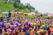 Pfadi-Kinder im Kantonslager in Escholzmatt. (Bild: PD/Dimitri Gwinner v/o Sherpa)