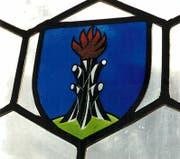 Das Wappen der Familie Brändle im Kirchenfenster von Mühlrüti. (Bild: PD)
