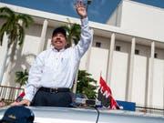 Der Präsident Nicaraguas, Daniel Ortega, will trotz der anhaltenden Proteste in seinem Land nicht zurücktreten. (Bild: KEYSTONE/AP/CRISTOBAL VENEGAS)