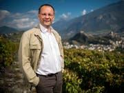 Der Walliser Weinhändler Dominique Giroud beschwerte sich über einen Beitrag des Westschweizer Fernsehens RTS. (Bild: Keystone/OLIVIER MAIRE)