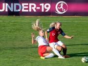 Trotz Torerfolg ausgeschieden: Alisha Lehmann und die Schweizer U19-Juniorinnen (Bild: KEYSTONE/ENNIO LEANZA)