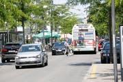 Wie die Autos im Boulevard künftig fahren dürfen, ist noch nicht klar. (Bild: Donato Caspari)