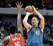 Dirk Nowitzki im Dress der Dallas Mavericks. (Bild: AP (24. Januar 2018))