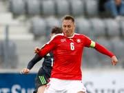 Nicolas Haas, hier bei einem Einsatz mit der Schweizer U21 (Bild: KEYSTONE/PETER KLAUNZER)