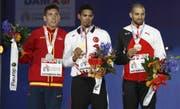 Karim Hussein (rechts) holte sich an der EM 2016 Bronze. (Bild: Keystone)