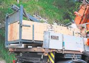 In dieser Transportkiste geschah das Unglück, das zwei Todesopfer und ein schwer verletztes Kind forderte. Bild: Archiv