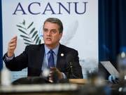 Laut WTO-Generaldirektor Roberto Azevêdo bedrohen neue Handelsbeschränkungen Wachstum, Arbeitsplätze und die Erholung der Weltwirtschaft. (Bild: KEYSTONE/MARTIAL TREZZINI)