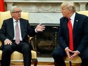 US-Präsident Donald Trump hat EU-Kommissionschef Jean-Claude Juncker im Weissen Haus empfangen. (Bild: KEYSTONE/AP/EVAN VUCCI)