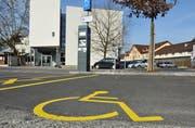 Ein Behindertenparkplatz auf dem Unteren Mätteli in Frauenfeld. (Bild: Nana do Carmo)