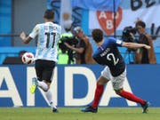 Dieses Tor von Benjamin Pavard wird zum schönsten WM-Treffer erkoren (Bild: KEYSTONE/AP/THANASSIS STAVRAKIS)
