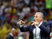 Brasiliens Nationaltrainer Tite gibt Anweisungen (Bild: KEYSTONE/EPA/SERGEY DOLZHENKO)