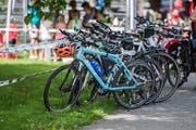 Abgestellte Velos anlässlich des Slow-up 2017 am Bodensee. (Bild: Thi My Lien Nguyen)