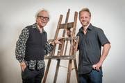 Walter und Michael Grässli im Atelier. (Foto: Hanspeter Schiess)