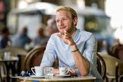 SCK-Vorzeigekämpfer Marco Wiget in seinem Lieblingskaffee Salü am Helvetiaplatz in Luzern. (Bild: Philipp Schmidli (Luzern, 26. Juli 2018))
