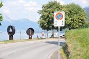 Das Parkverbot auf der Rütenenstrasse wurde bis zum Gemeindekraftwerk beim Sustli verlängert. (Bild: Matthias Piazza (Beckenried, 26. Juli 2018))