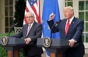 Jean-Claude Juncker besuchte vorgestern Mittwoch Donald Trump in Washington. (Bild: Pablo Martinez Monsivais/AP)
