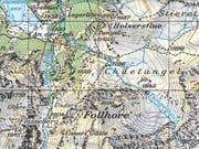 Im Gebiet des Follhore ist am Donnerstag ein Wanderer mehrere hundert Meter in die Tiefe gestürzt. (Bild: Swisstopo)