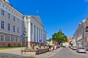 Die Universität im Stadtzentrum von Tartu.