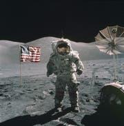 Eugene Cernen auf dem Mond. (Bild: Keystone)