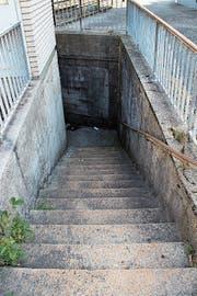 Treppe in der Unterführung Neugasse. (Bild: Martin Knoepfel)