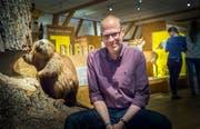 Direktor Hannes Geisser im Naturmuseum Thurgau in Frauenfeld. (Bild: Andrea Stalder)