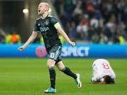 Jubelt in Zukunft für Werder Bremen: der ehemalige Ajax-Spieler Davy Klaassen (Bild: KEYSTONE/AP/LAURENT CIPRIANI)