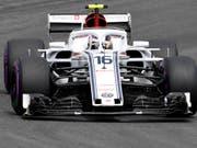 Mit Alfa Romeo und Ferrari im Aufwind: Saubers Charles Leclerc (Bild: KEYSTONE/AP/JENS MEYER)