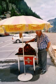 Schon Vater Kaspar Walker verkaufte an der Gotthard-Passstrasse in Göschenen Alpenrosen, um das Einkommen der Familie aufzubessern. (Bild PD)