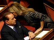 Alessandra Mussolini verlässt Silvio Berlusconis Partei Forza Italia. (Bild: KEYSTONE/AP/GREGORIO BORGIA)