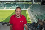 Stadionspeaker Richard Fischbacher. (Bild: Ralph Ribi)