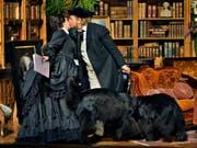 Hochpolitische «Meistersinger von Nürnberg»: Wagners Alter Ego Hans Sachs (Michael Volle) und Eva (Emily Magee). (Bild: KEYSTONE/APA/Festspiele Bayreuth/ENRICO NAWRATH)