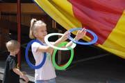 Jonglieren mit Olympischen Ringen?. (Bild: Corinne Bischof)