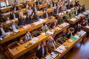 Am Dienstag hat sich das St.Galler Stadtparlament mit der Jahresrechnung 2017 sowie den Geschäftsberichten von Stadtrat, Verkehrsbetrieben, Stadtwerken und Ombudsstelle beschäftigt. (Bild: Benjamin Manser)