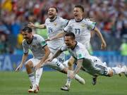 Die russischen Spieler sind überraschend zu Helden geworden (Bild: KEYSTONE/AP/MANU FERNANDEZ)