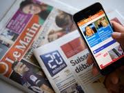 Das Zürcher Medienhaus Tamedia will die gedruckte Ausgabe der Westschweizer Tageszeitung «Le Matin» einstellen. «Le Matin» soll als rein digitale Medienmarke mit einer eigenen Redaktion weitergeführt werden. (Bild: KEYSTONE/LAURENT GILLIERON)