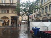 Am 12. Mai 2016 war mitten in der St. Galler Innenstadt ein 42-jähriger Mann erschossen worden. Am Dienstag stand der Täter vor Gericht. (Archiv sda) (Bild: Archiv sda)