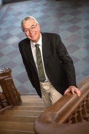 Christoph Brutschin, Präsident der Volkswirtschaftsdirektorenkonferenz. (Bild Dominik Wunderli (Basel, 20.07. 2017)
