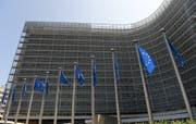 Flirrende Hitze am Sitz der EU-Kommission in Brüssel. (Bild: Keystone)