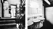 Blick in eines der Treppenhäuser und einen der Waschräume kurz nach der Eröffnung 1978. (Bilder: PD)