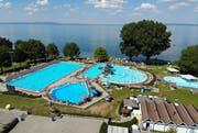 Das Schwimmbad in Arbon von oben. (Bild: Reto Martin)