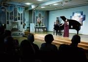Sopran Andrea Brown und Pianist Benjamin Engeli in der Kapelle des Zentrums Ländli. (Bild: Stefan Kaiser (Oberägeri, 29. Juli 2018))