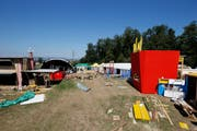 Blick auf das Festivalgelände. (Bild: Stefan Kaiser (Steinhausen, 30. Juli 2018))